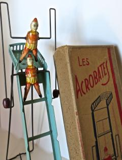G Doloy Vintage French Toy Les Acrobates Circa 1920 - 698849