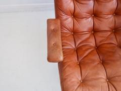 G te M bler N ssj Brown Leather Swivel Chair by G te M bler - 1414218