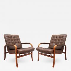 G te M bler N ssj Swedish Bentwood Leather Chairs by G te M bler N ssj  - 890482