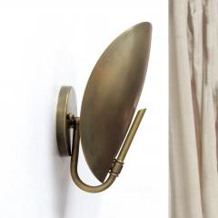 Gallery L7 Brass Shell Wall Lights - 581874
