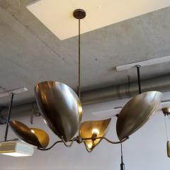 Gallery L7 Four Arm Raw Brass Chandelier Chiton  - 713918