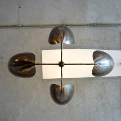 Gallery L7 Four Arm Raw Brass Chandelier Chiton  - 713919