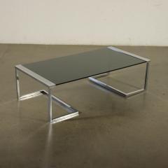 Gallotti Radice Coffee Table Sir T32 Gallotti Radice Chromed Brass Pine Glass 70s 1980 - 2116655