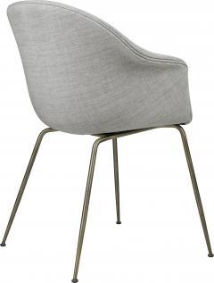 GamFratesi Design Studio GamFratesi Bat Dining Chair in Grey with Antique Brass Conic Base - 1671943