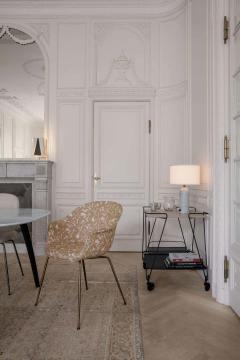 GamFratesi Design Studio GamFratesi Bat Dining Chair in Grey with Antique Brass Conic Base - 1671945