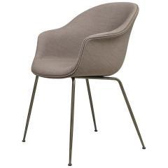 GamFratesi Design Studio GamFratesi Bat Dining Chair in Grey with Antique Brass Conic Base - 1671951