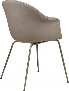 GamFratesi Design Studio GamFratesi Bat Dining Chair in Grey with Antique Brass Conic Base - 1671952