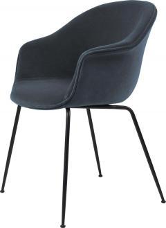 GamFratesi Design Studio GamFratesi Bat Dining Chair in Grey with Antique Brass Conic Base - 1671954