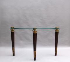 Garouste Bonetti FINE FRENCH WOOD BRONZE AND GLASS CONSOLE BY GAROUSTE AND BONETTI - 976963