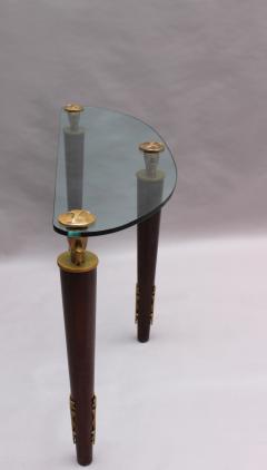 Garouste Bonetti FINE FRENCH WOOD BRONZE AND GLASS CONSOLE BY GAROUSTE AND BONETTI - 976967