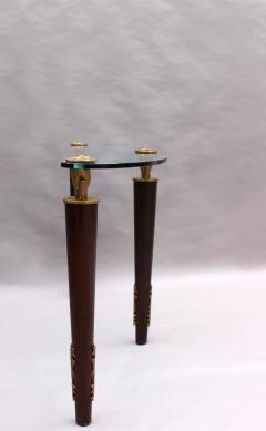 Garouste Bonetti FINE FRENCH WOOD BRONZE AND GLASS CONSOLE BY GAROUSTE AND BONETTI - 976972