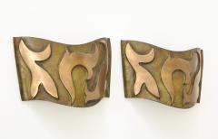 Garouste Bonetti Pair of Bronze Sonate Sconces by Garouste Bonetti - 1154455