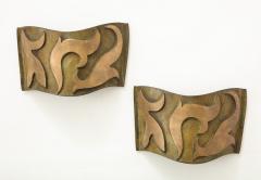 Garouste Bonetti Pair of Bronze Sonate Sconces by Garouste Bonetti - 1154456