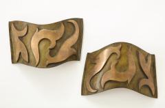 Garouste Bonetti Pair of Bronze Sonate Sconces by Garouste Bonetti - 1154457