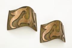 Garouste Bonetti Pair of Bronze Sonate Sconces by Garouste Bonetti - 1154459