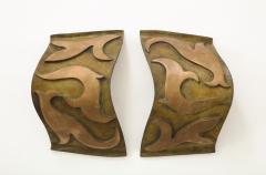 Garouste Bonetti Pair of Bronze Sonate Sconces by Garouste Bonetti - 1154461