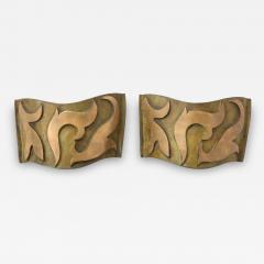 Garouste Bonetti Pair of Bronze Sonate Sconces by Garouste Bonetti - 1155738
