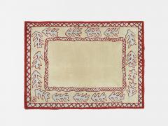 Garouste Bonetti Red beige and light green wool Rug by Garouste and Bonetti 1993 - 1919947