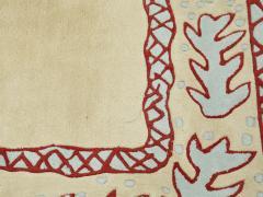 Garouste Bonetti Red beige and light green wool Rug by Garouste and Bonetti 1993 - 1919954