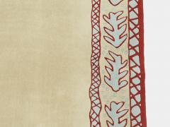 Garouste Bonetti Red beige and light green wool Rug by Garouste and Bonetti 1993 - 1919955