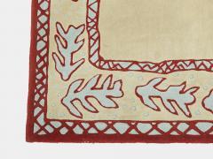 Garouste Bonetti Red beige and light green wool Rug by Garouste and Bonetti 1993 - 1919957