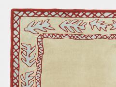 Garouste Bonetti Red beige and light green wool Rug by Garouste and Bonetti 1993 - 1919958