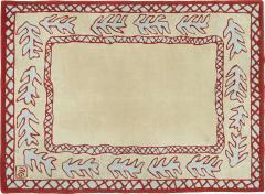 Garouste Bonetti Red beige and light green wool Rug by Garouste and Bonetti 1993 - 1921092