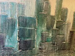 Garraffa MODERN 1970S NYC SKYLINE PAINTING BY GARRAFFA - 1686179