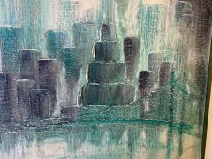 Garraffa MODERN 1970S NYC SKYLINE PAINTING BY GARRAFFA - 1686181