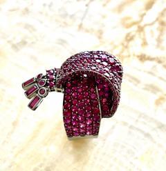 Garrard Co Fabulous Garrard Ruby Ribbon Ring - 1889493