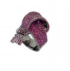 Garrard Co Fabulous Garrard Ruby Ribbon Ring - 1889494