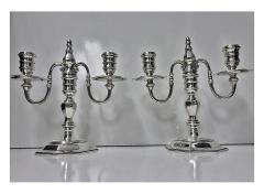 Garrard Co Garrard Co English Silver Candelabra Candlesticks London 1968 - 95585
