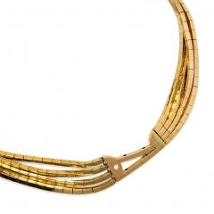 Garrard Co Garrard London 1940s Gold Necklace with Detachable Gold and Diamond Brooch - 828193