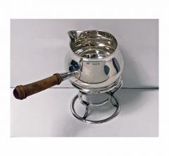 Garrard Co Garrard Silver Brandy Saucepan and Stand London 1916 - 1087853