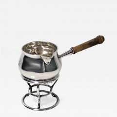 Garrard Co Garrard Silver Brandy Saucepan and Stand London 1916 - 1091080