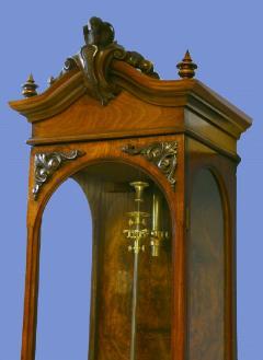 Gebhard Bosch L beck c 1877 German Carved Walnut Long Running Conical Wall Regulator Clock - 1276615