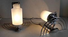 General Electric Four English Streamline Moderne Art Deco Sconces - 123471