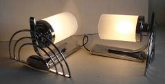 General Electric Four English Streamline Moderne Art Deco Sconces - 123473