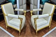 Genes Babut Genes Babut and Poillerat superb pair of French Neo classic chairs - 1409064