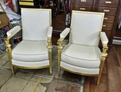 Genes Babut Genes Babut and Poillerat superb pair of French Neo classic chairs - 1409306