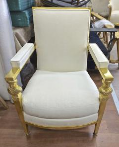 Genes Babut Genes Babut and Poillerat superb pair of French Neo classic chairs - 1409323