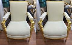 Genes Babut Genes Babut and Poillerat superb pair of French Neo classic chairs - 1409335