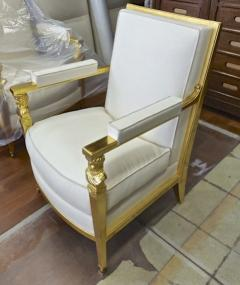 Genes Babut Genes Babut and Poillerat superb pair of French Neo classic chairs - 1409350