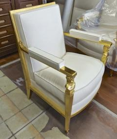 Genes Babut Genes Babut and Poillerat superb pair of French Neo classic chairs - 1409354