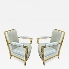 Genes Babut Genes Babut and Poillerat superb pair of French Neo classic chairs - 1411281
