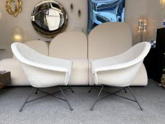 Genevieve Dangles Christian Defrance Pair of Armchairs 58 by Dangles Defrance for Burov France 1950s - 2128331