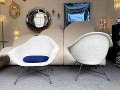 Genevieve Dangles Christian Defrance Pair of Armchairs 58 by Dangles Defrance for Burov France 1950s - 2128333