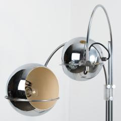 Gepo Dutch Chrome Floor Lamp from Gepo Double Eye Ball 1960s - 1108530