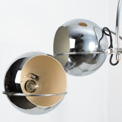 Gepo Set of Dutch Chrome Light Fixtures from Gepo Double Eye Ball 1960s - 1108543
