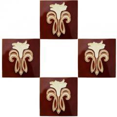 Gilliot 1 of 30 Art Jugendstil Ceramic Tiles by Gilliot Te Hemiksem circa 1920 - 1298757